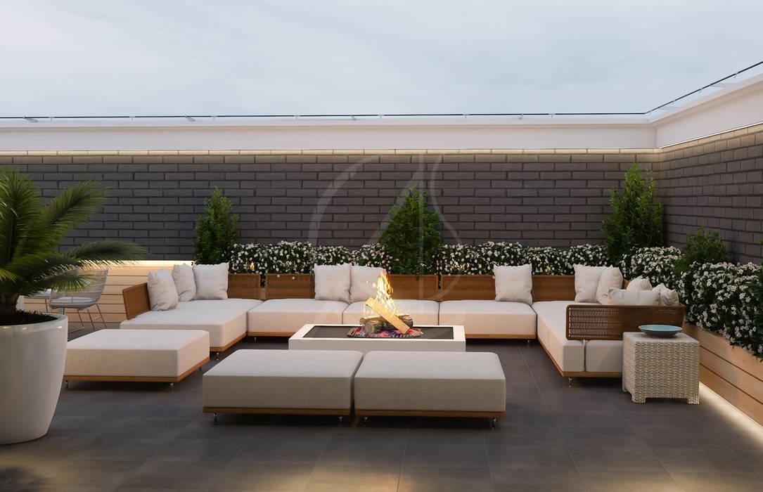Balcón de estilo  por Comelite Architecture, Structure and Interior Design ,
