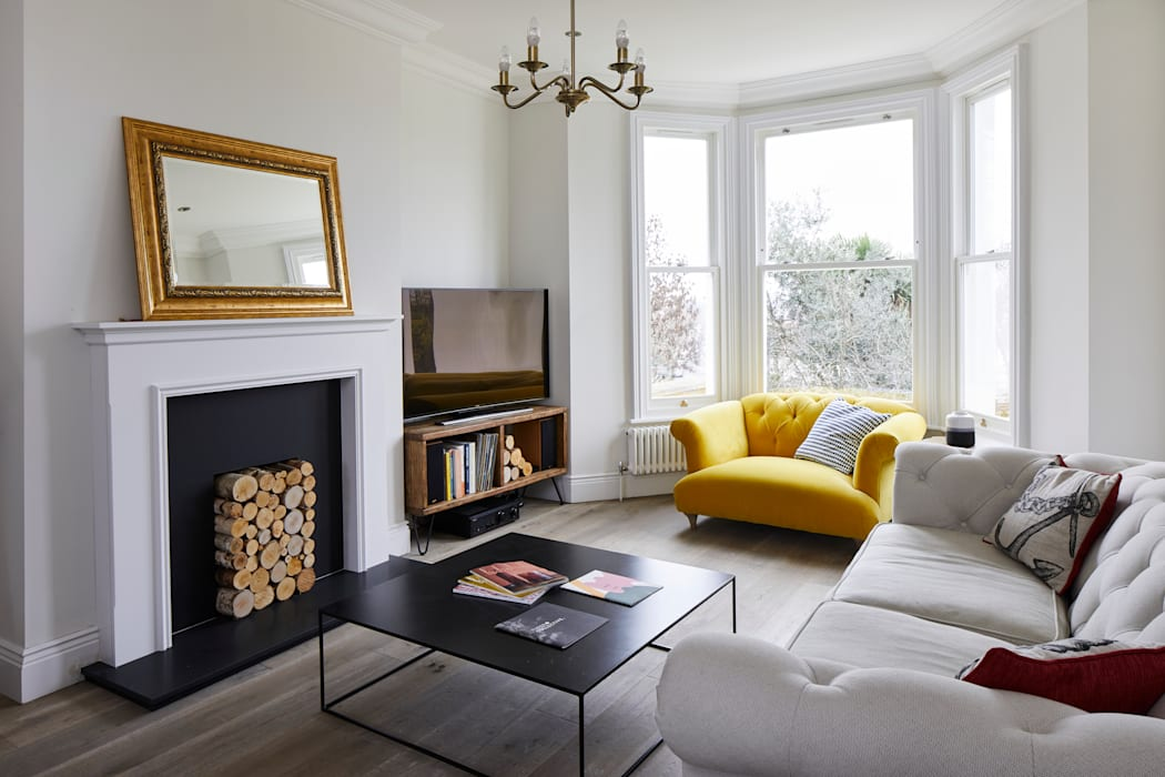 Home Renovation, Forest Hill:  Living room by Resi Architects in London