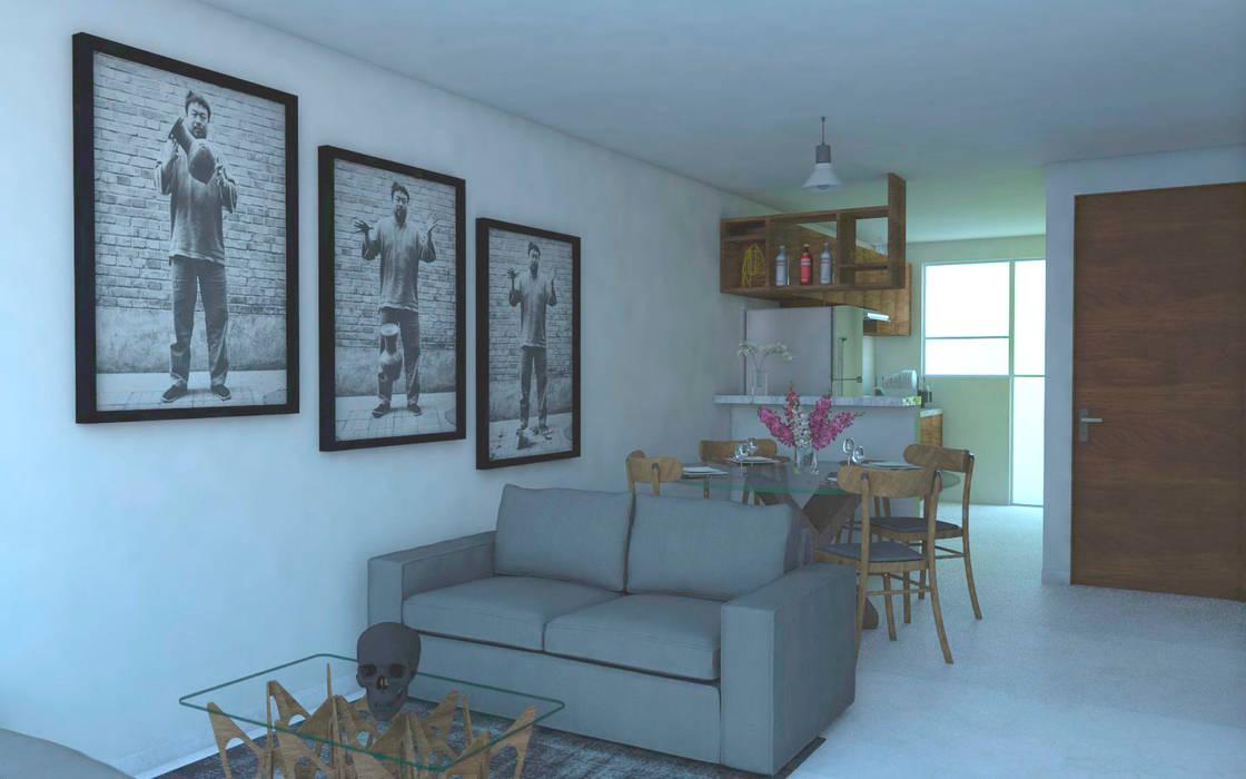 Sala. Salones de estilo minimalista de Creer y Crear. Arquitectura/Diseño/Construcción Minimalista