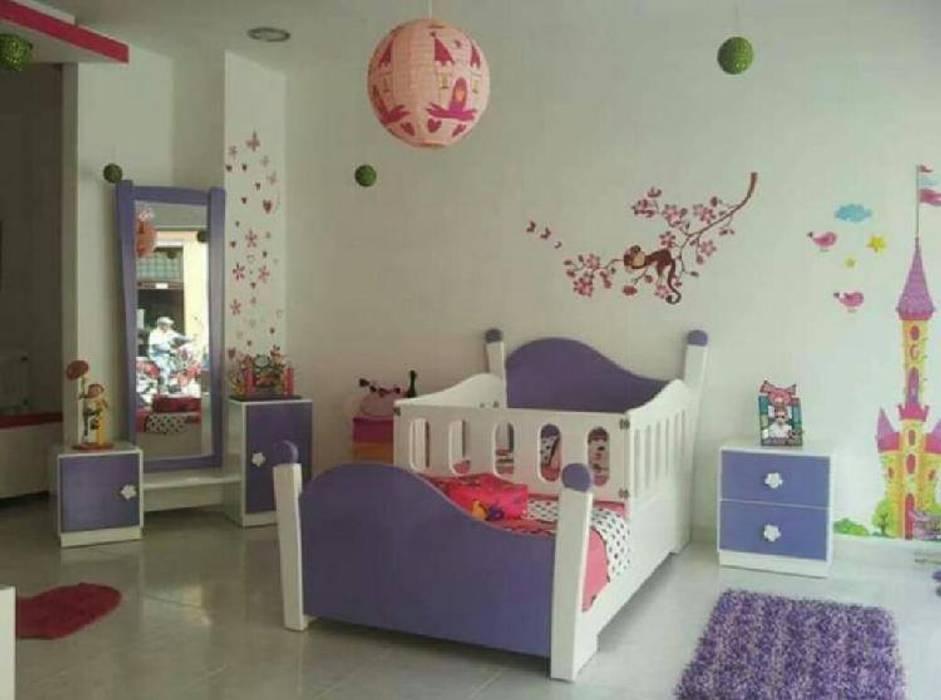 JUEGO DE ALCOBA INFANTIL Habitaciones para niños de estilo moderno de MUEBLERIA Y CARPINTERIA MADEYRA Moderno Derivados de madera Transparente