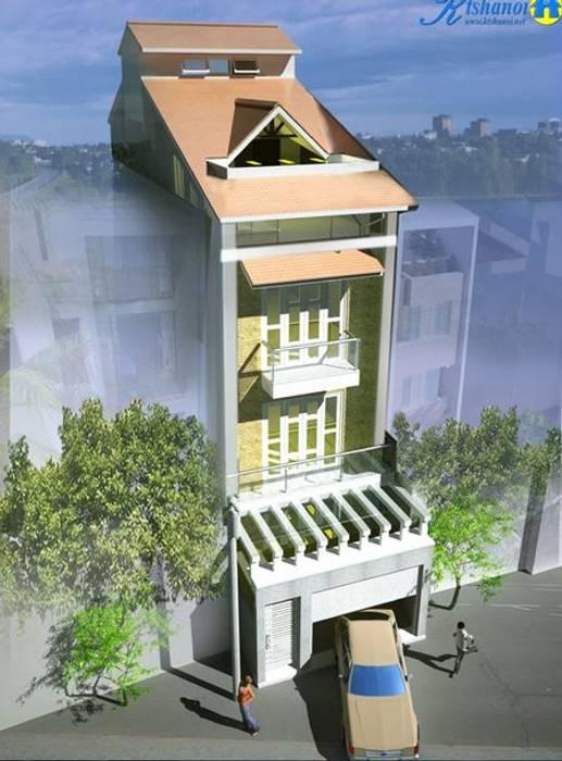 Mẫu thiết kế nhà ống đẹp 4 tầng diện tích 5x16m2 bởi CÔNG TY CỔ PHẦN XD&TM KIẾN TẠO VIỆT Hiện đại