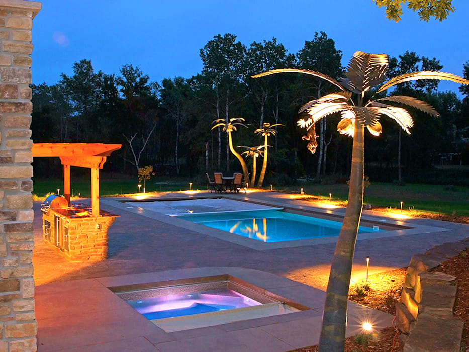 Inspirations Tropical style pool by Jacks Pools Limited Tropical