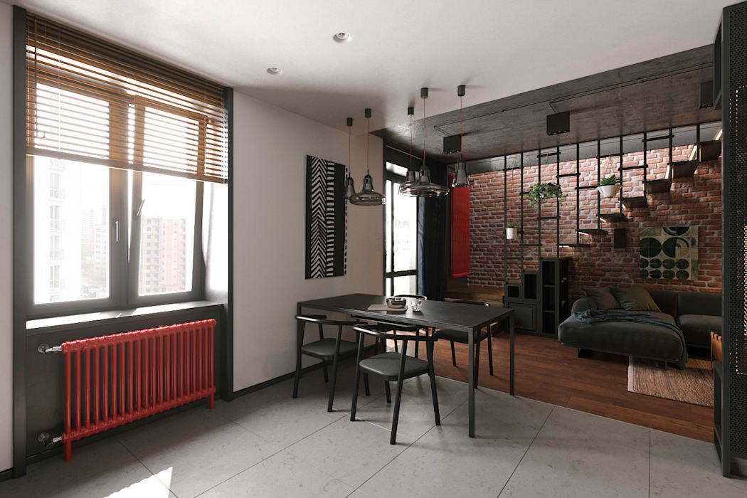 Offene küche, esszimmer und wohnzimmer moderne esszimmer von ...