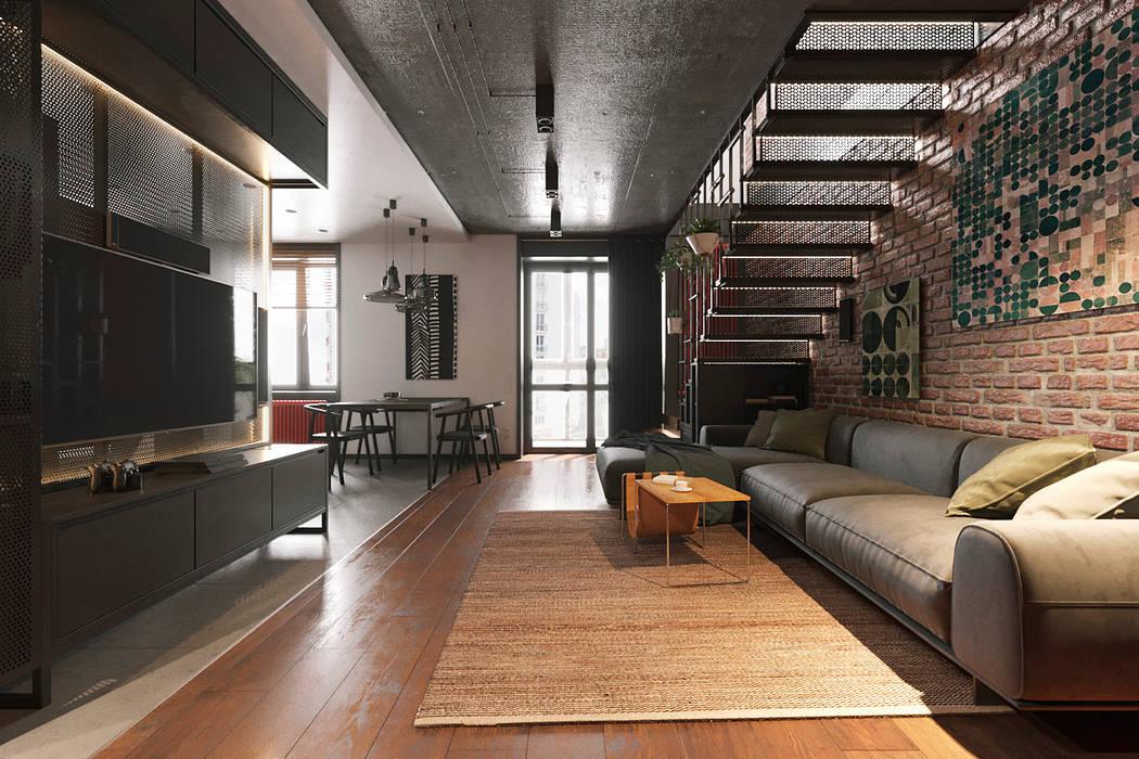 Offenes wohnzimmer, esszimmer und küche moderne wohnzimmer ...