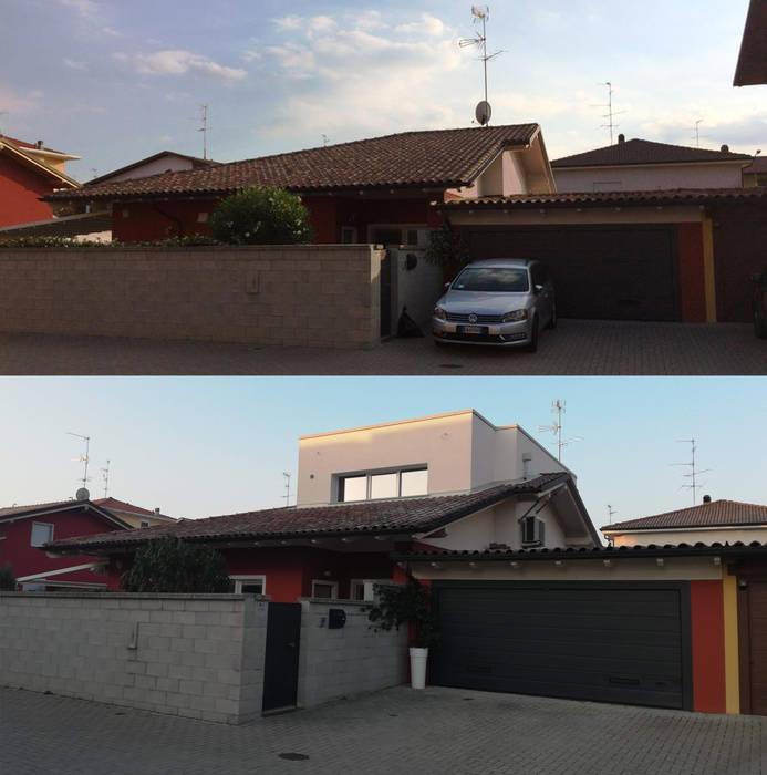 Sopraelevazione di Villa indipendente di Alessandro Jurcovich Architetto Moderno