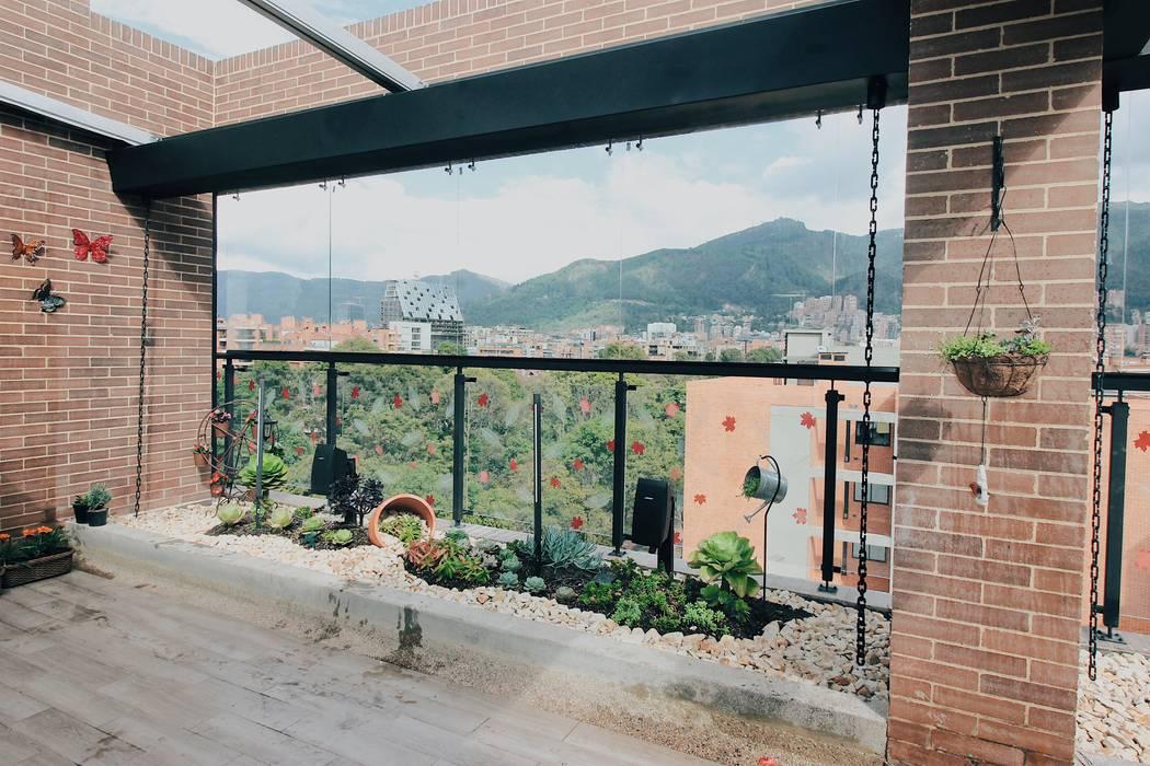 Detalle diseño con Suculentas Balcones y terrazas de estilo moderno de Marga Moderno