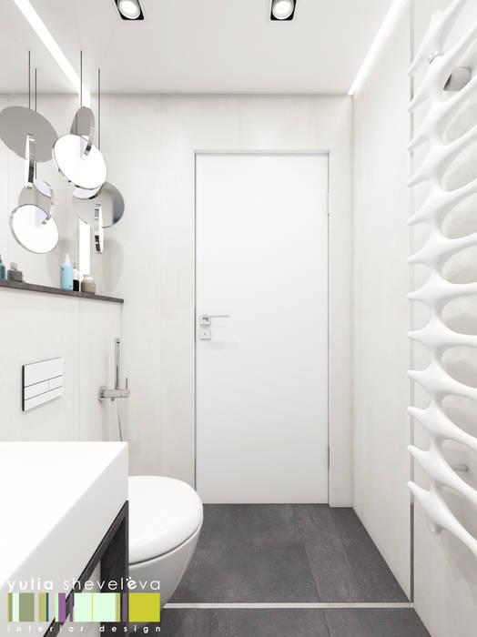Baños de estilo minimalista de Мастерская интерьера Юлии Шевелевой Minimalista
