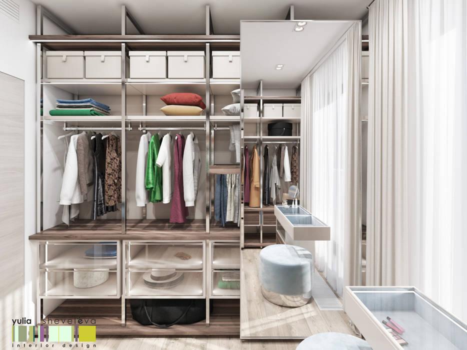 Closets de estilo minimalista de Мастерская интерьера Юлии Шевелевой Minimalista