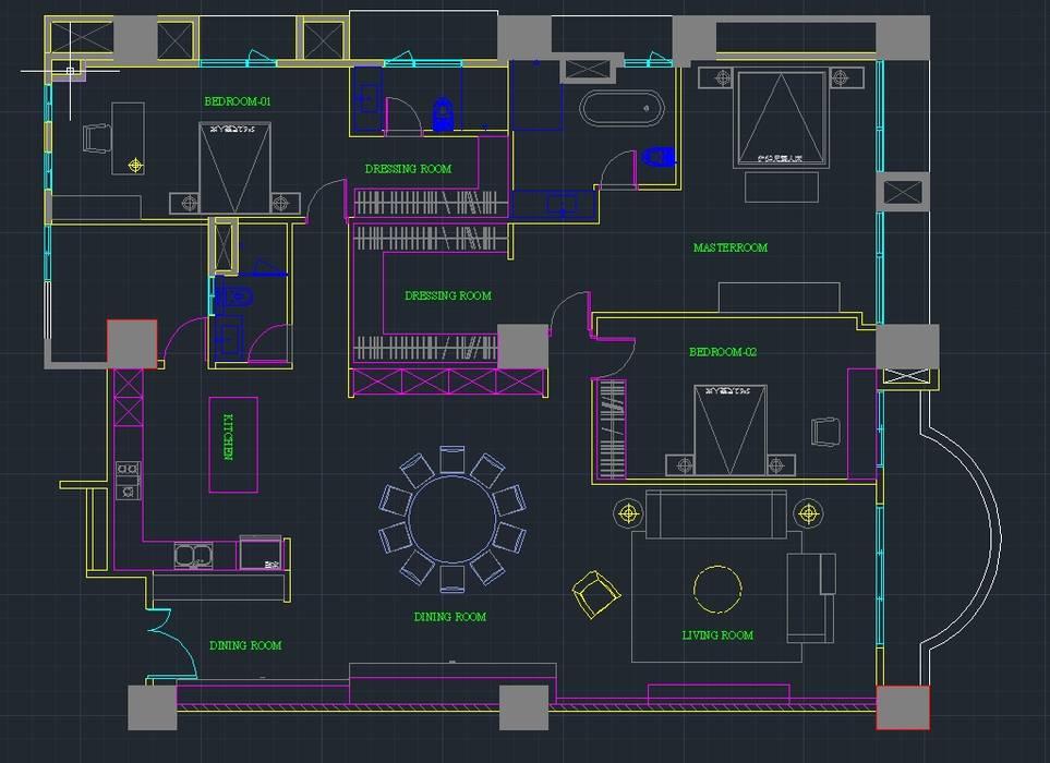 精銳紐約之星Y宅 3D設計圖 台中室內設計-築采設計