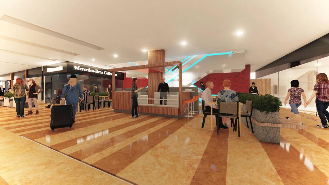 COFFE CENTRO COMERCIAL USAQUEN Pasillos, vestíbulos y escaleras de estilo minimalista de Gallo Rosa S.A.S Minimalista Aglomerado