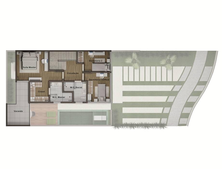 Planta baixa - superior por Rissetti Arquitetura Industrial