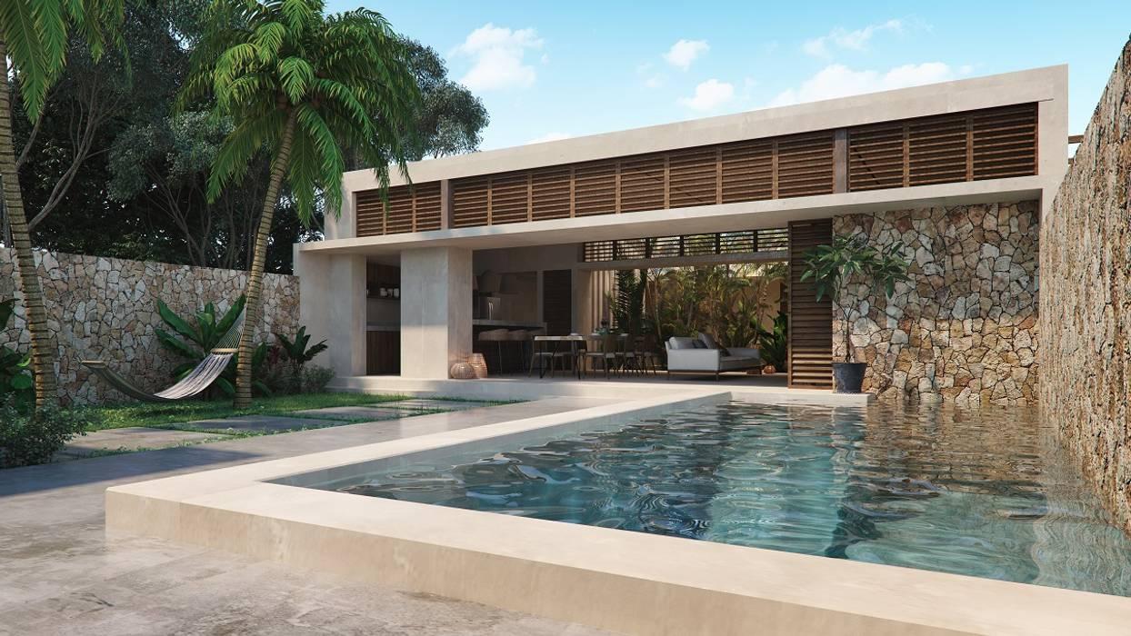 Pool by Construcciones del Carmen