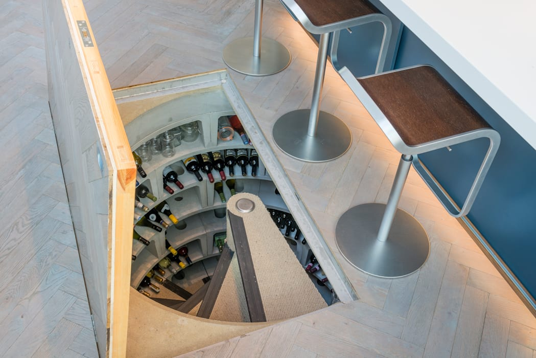 Spiral Cellar with concealed timber  door :  Wine cellar by Spiral Cellars, Rustic