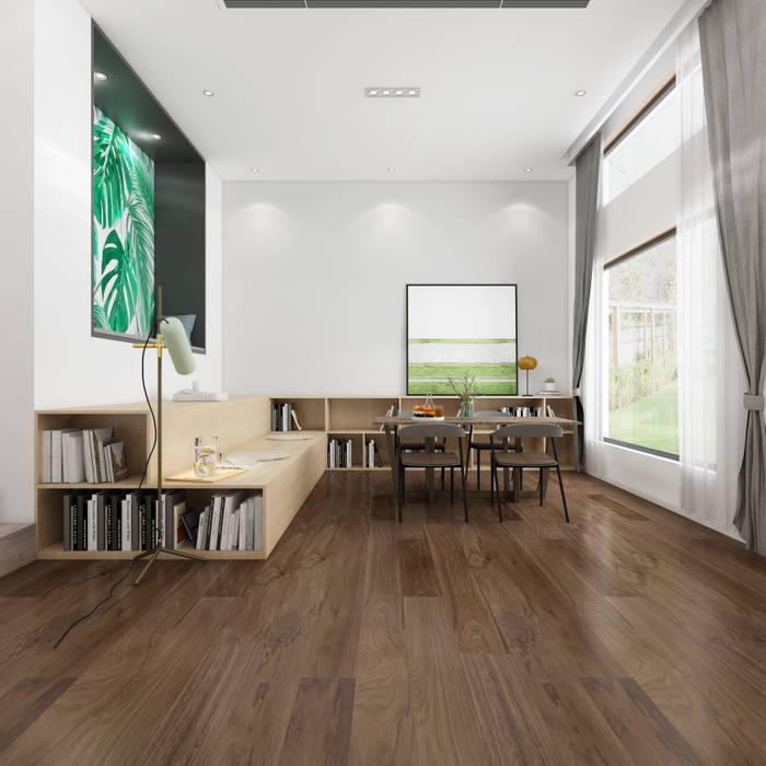 Contemporary Walnut - Piso de Madera Nogal Americano de Global Woods Minimalista Madera Acabado en madera