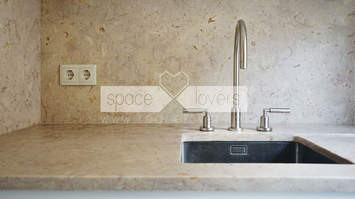Built-in kitchens by spacelovers, Minimalist Stone