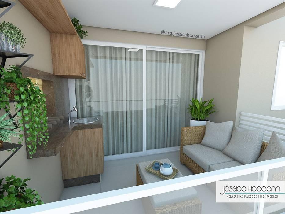 Balcón de estilo  por Arquiteta Jéssica Hoegenn - Arquitetura de Interiores, Tropical