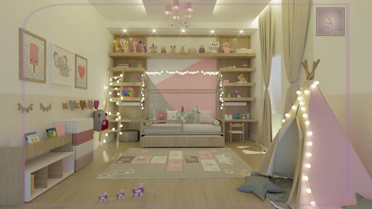 Quarto Menina Quarto infantil moderno por MD&D Arquitetura e Interiores Moderno