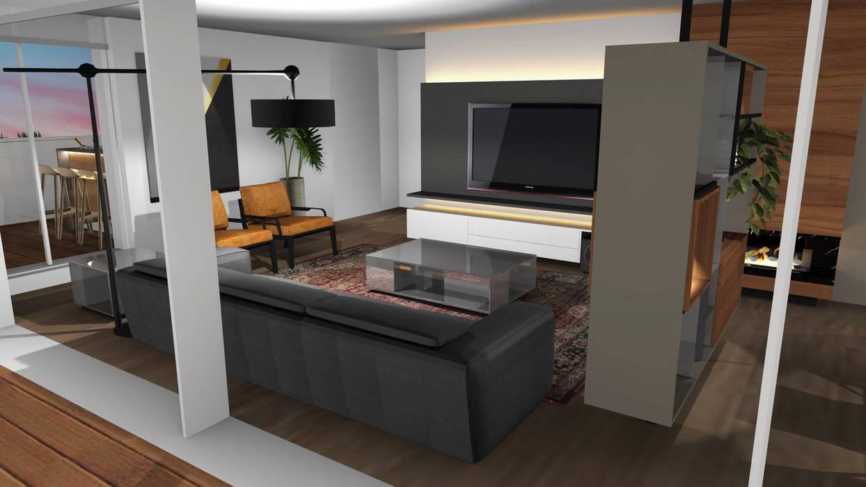 Living room by Form Arquitetura e Design, Modern