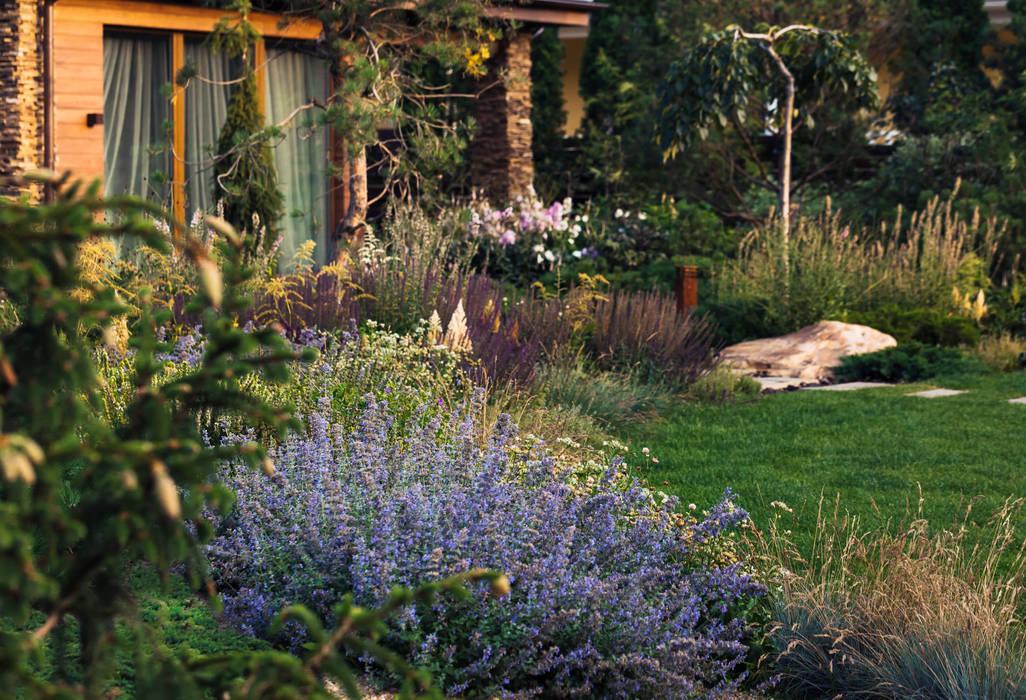 Jardins de fachada  por DEREVO PARK