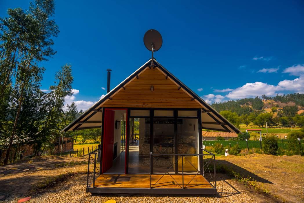 Casas ecológicas de estilo  por Camacho Estudio de Arquitectura, Rural Derivados de madera Transparente