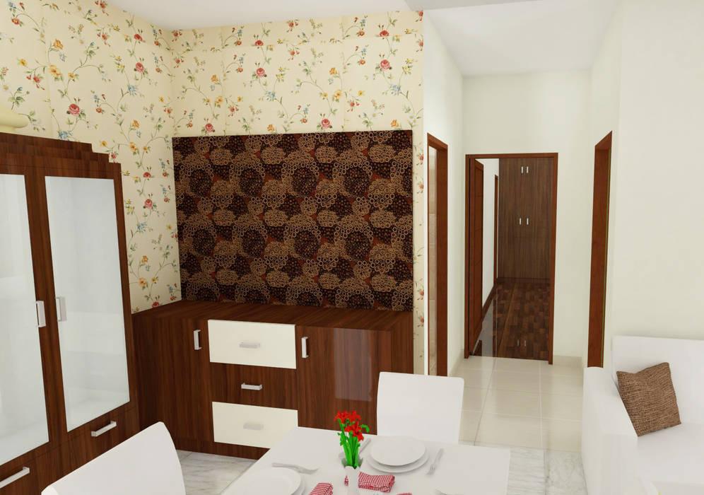 Столовая комната в стиле модерн от SSDecor Модерн Изделия из древесины Прозрачный