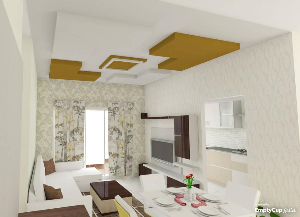 Гостиная в стиле модерн от SSDecor Модерн Изделия из древесины Прозрачный