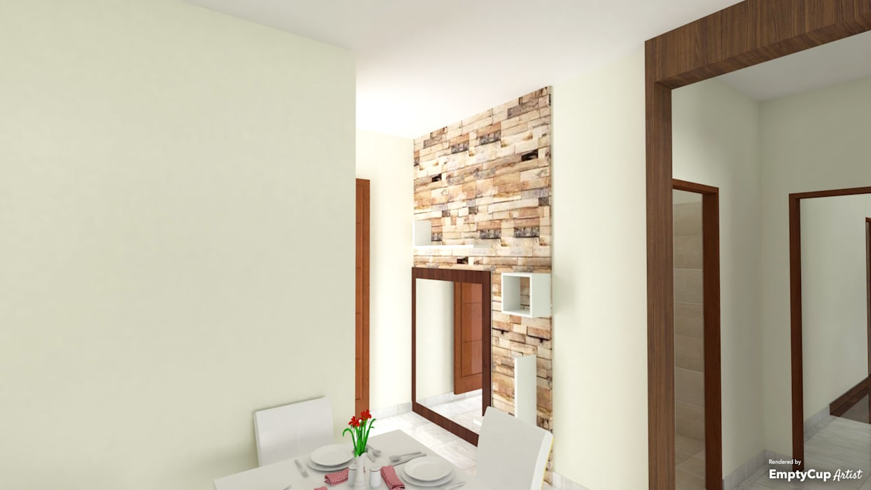 one textured wall:  Corridor & hallway by SSDecor