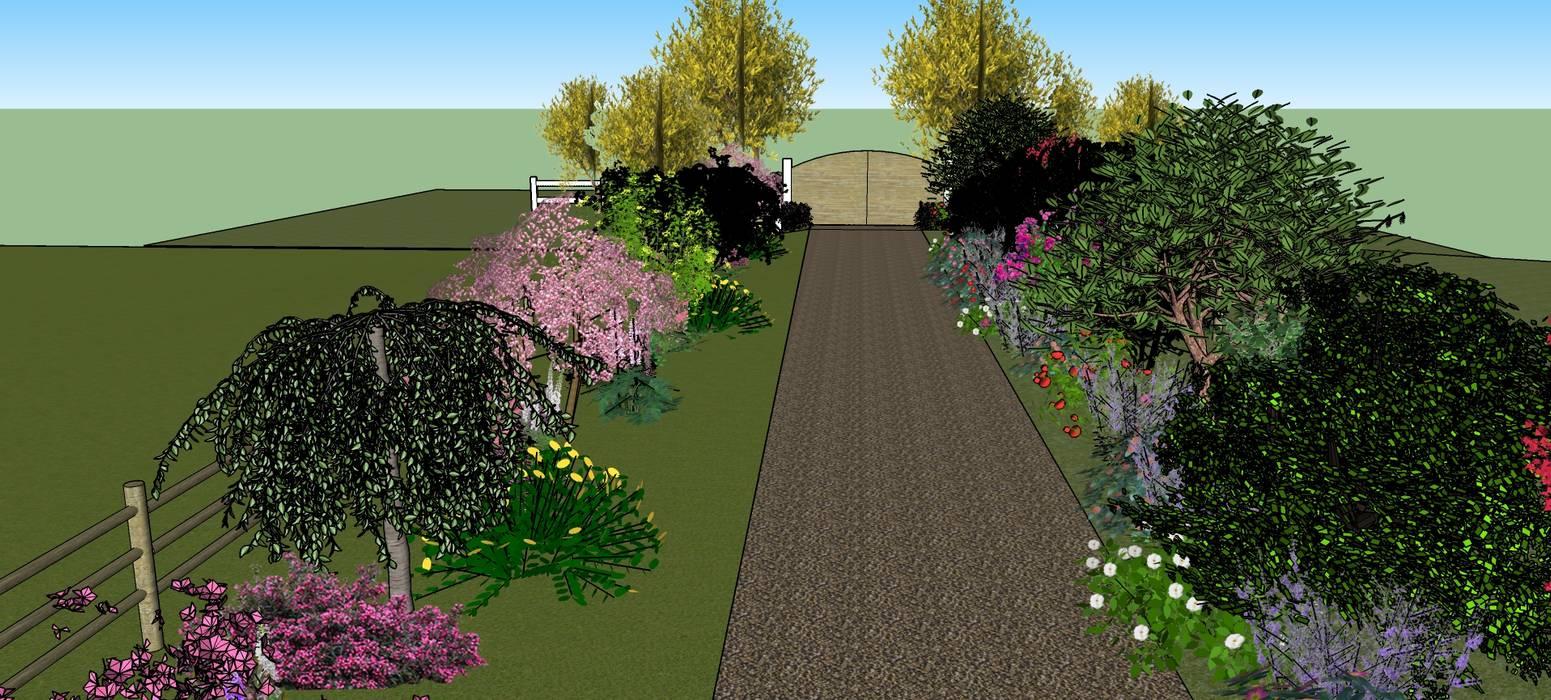 Entrée propriété. Jardin moderne par Conseils en aménagement paysagés Intérieurs/Extérieurs Moderne