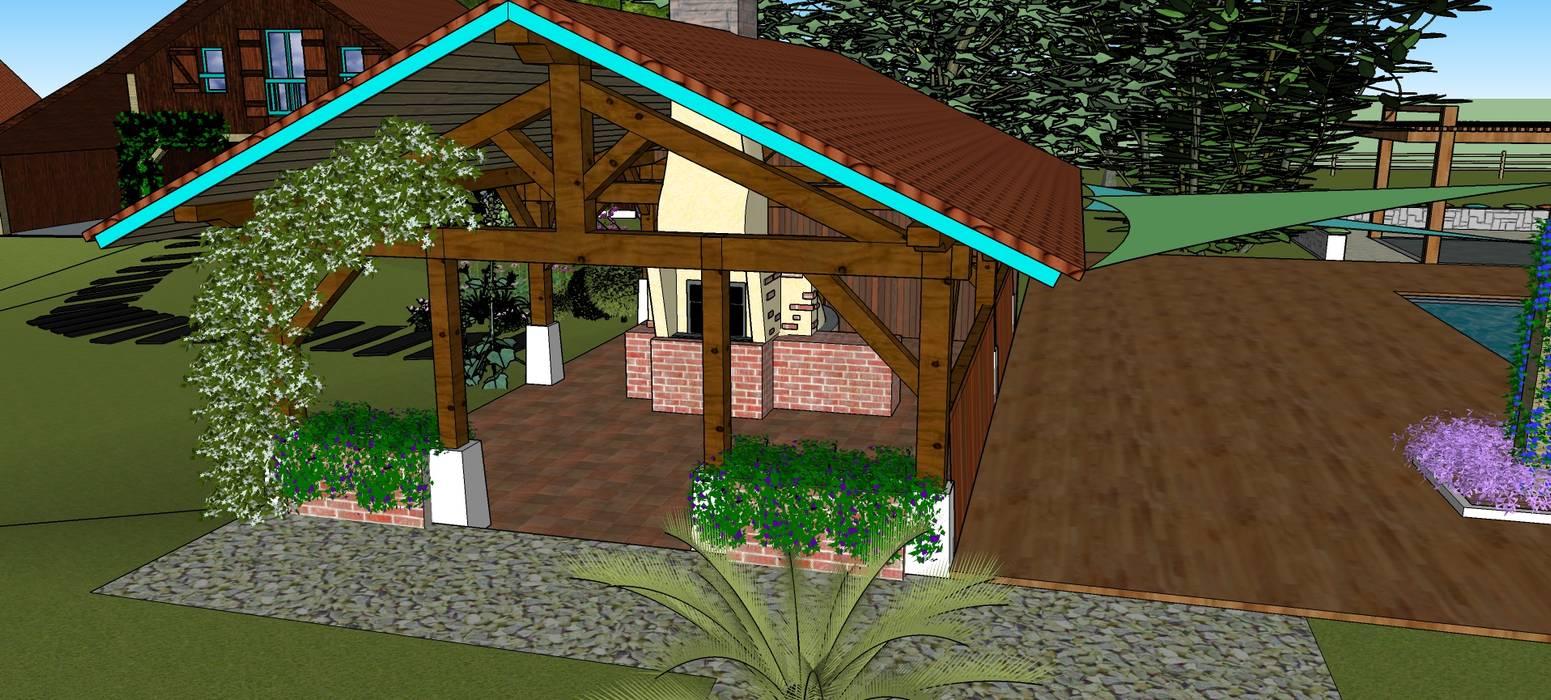 Four à pain. Jardin moderne par Conseils en aménagement paysagés Intérieurs/Extérieurs Moderne