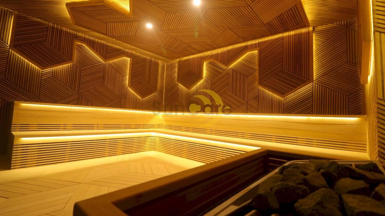 Villa N.T,Ankara SunCare Spa Uygulamaları Modern Ahşap Ahşap rengi