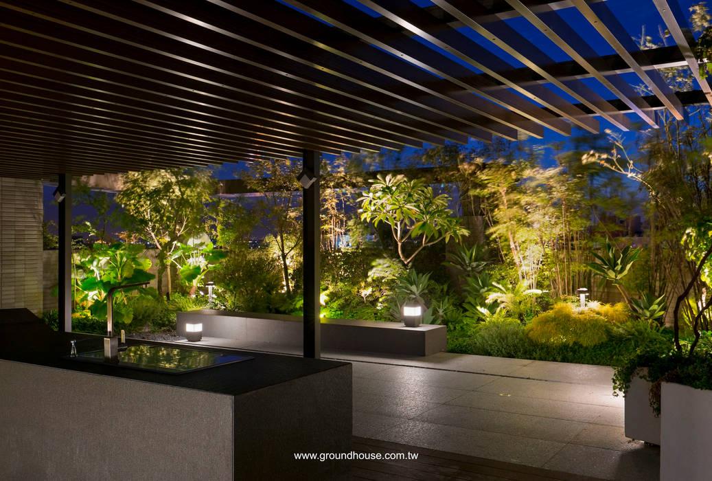 夜景05:  辦公大樓 by 大地工房景觀公司, 日式風、東方風