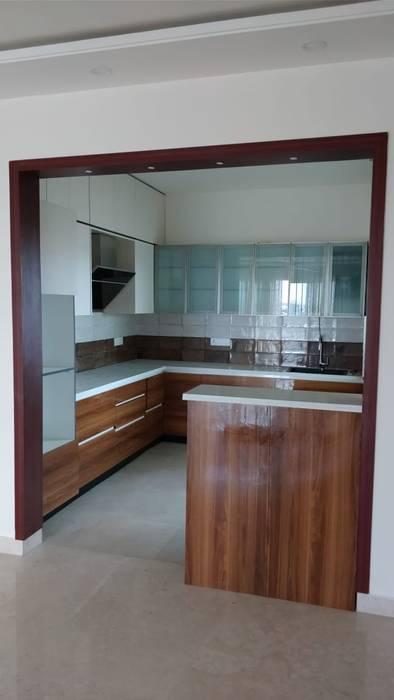 kitchen:  Kitchen units by SSDecor,Modern Engineered Wood Transparent