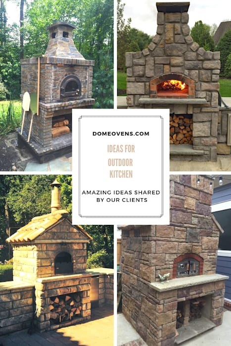 Ideas for outdoor kitchens:  Patios by Dome Ovens™