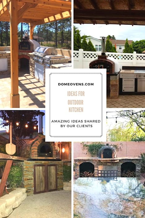 Ideas for outdoor kitchens:  Patios & Decks by Dome Ovens™