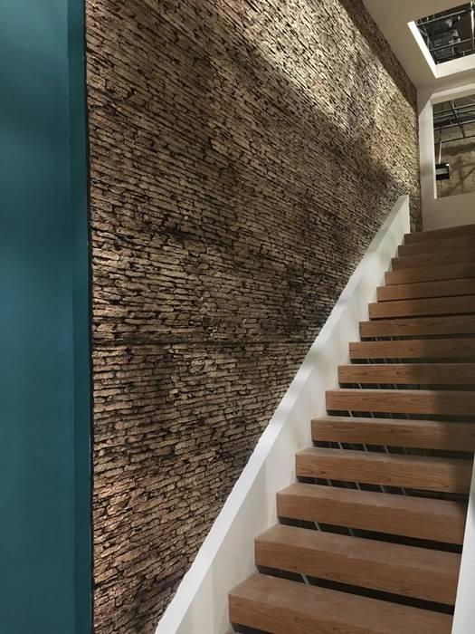 Piedra Laja en Escaleras EL CÉSAR DISEÑO EN ACABADOS Y DECORACIÓN Escaleras Piedra Beige