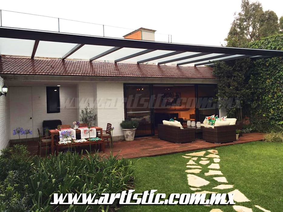Lean-to roof by Artistic de MExico, Modern Iron/Steel