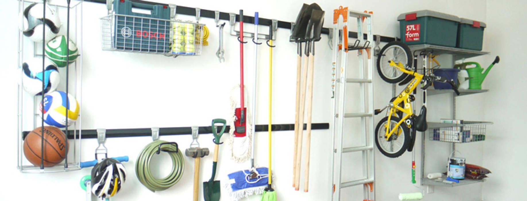 Garage Wall Storage Ideas:  Garage/shed by MyGarage, Modern