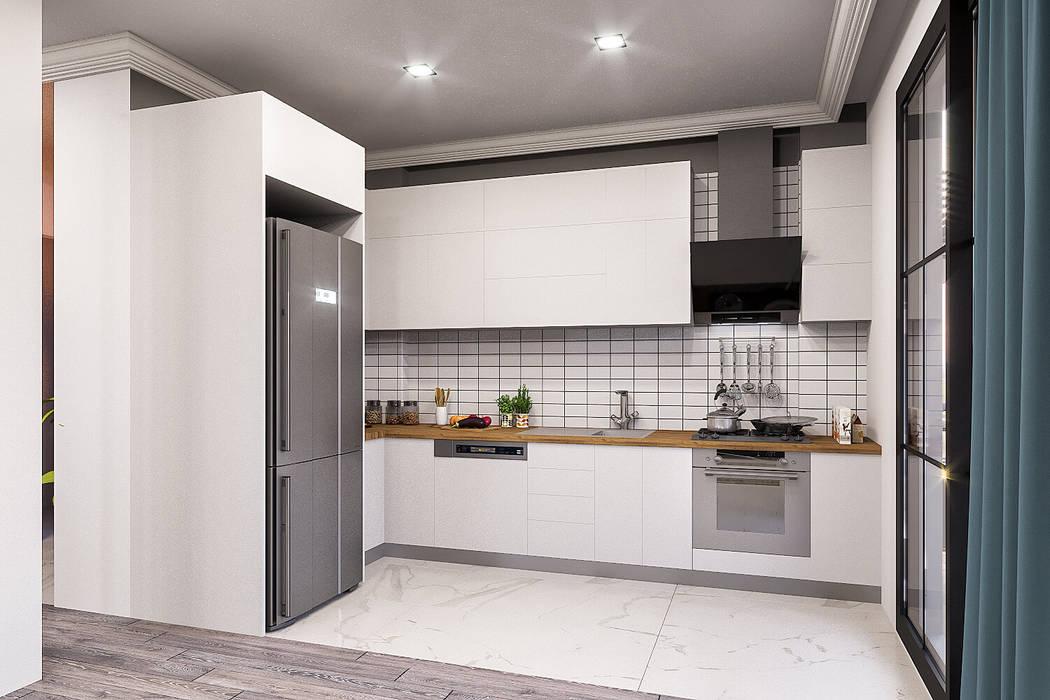 ANTE MİMARLIK  – Açık mutfak :  tarz Küçük Mutfak