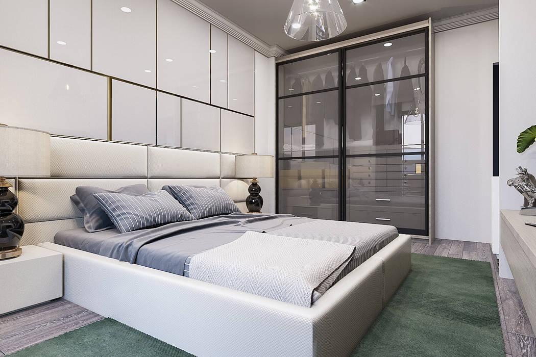 Renklerin uyumu Modern Yatak Odası ANTE MİMARLIK Modern