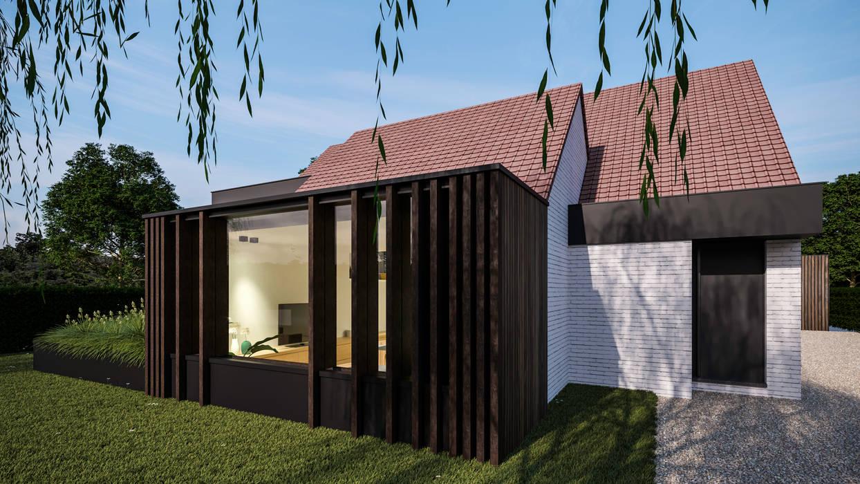 Nieuwe uitbouw:  Huizen door Studio Govaerts
