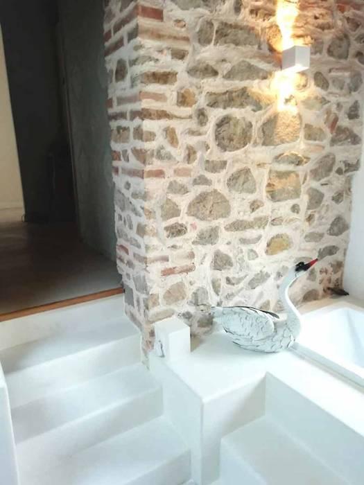 Pavimento Moderno Salle de bainDécorations Synthétique Blanc