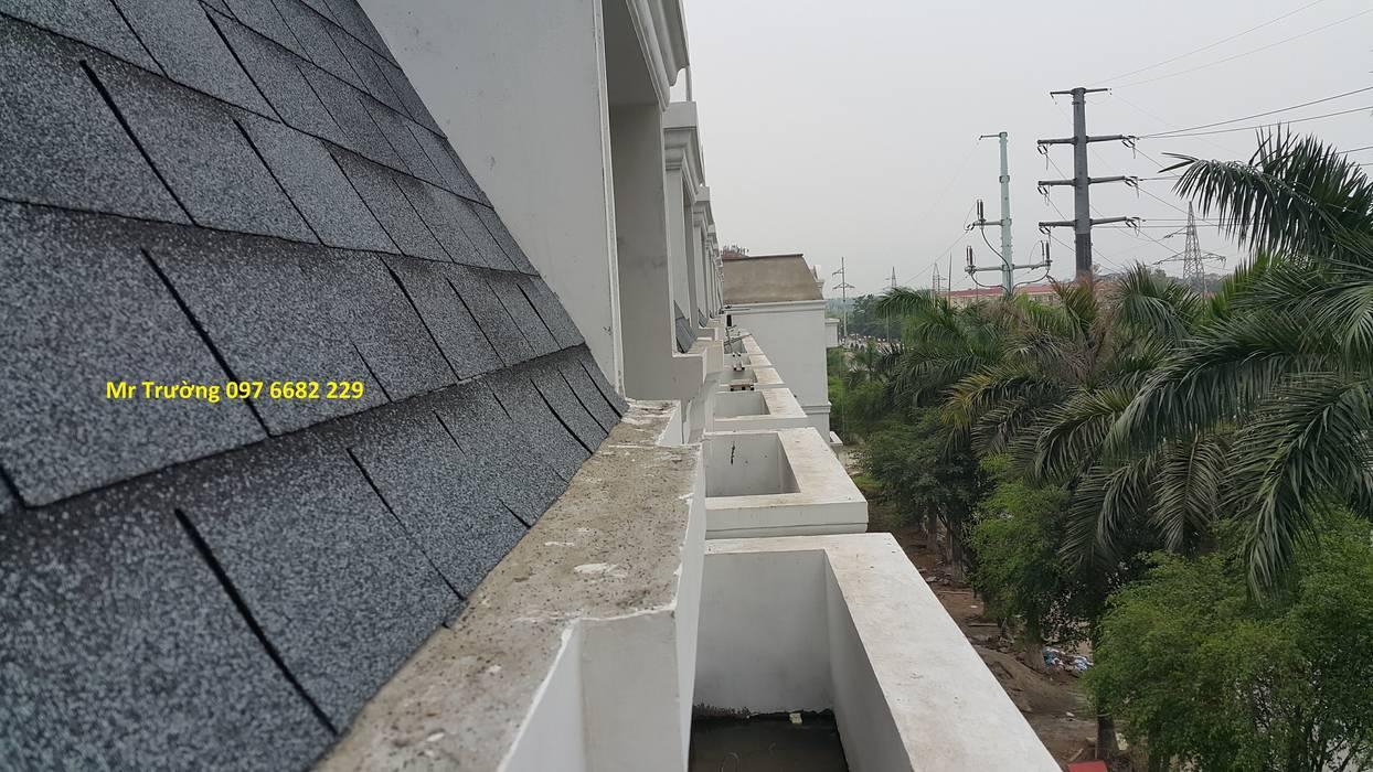 Ngói bitum phủ đá bởi Công ty TNHH Xây dựng và Thương mại Việt Pháp Hiện đại