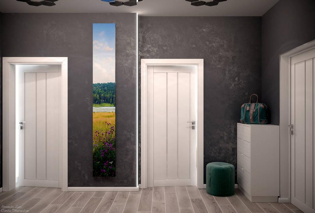 Студия интерьерного дизайна happy.design Couloir, entrée, escaliers modernes