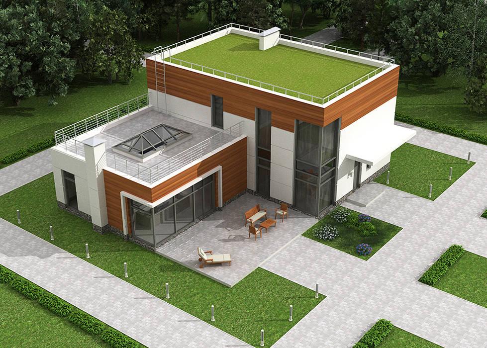 Проект дома из монолитного железобетона в стиле неомодернизм: Дома на одну семью в . Автор – Roman Kozlov, Минимализм Бетон