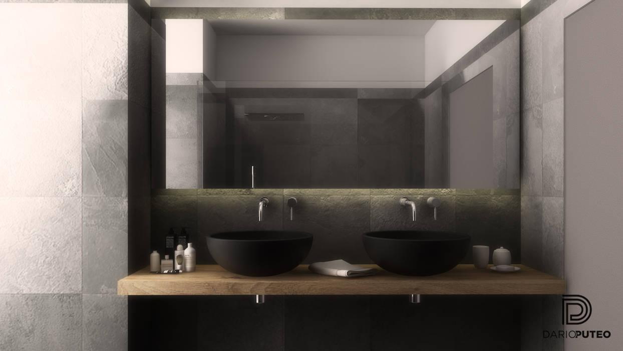 a pinch of the 70's Bagno moderno di ILAB2.0 Design Studio Moderno