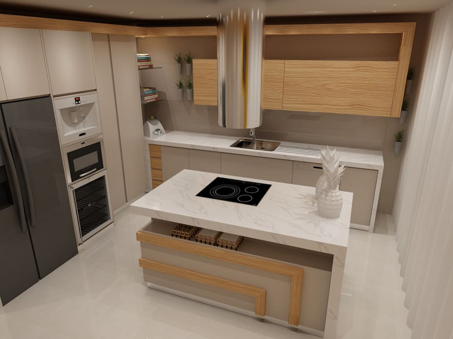 Projecto Cozinha - Vila Verde, Braga: Armários de cozinha  por Angelourenzzo - Interior Design