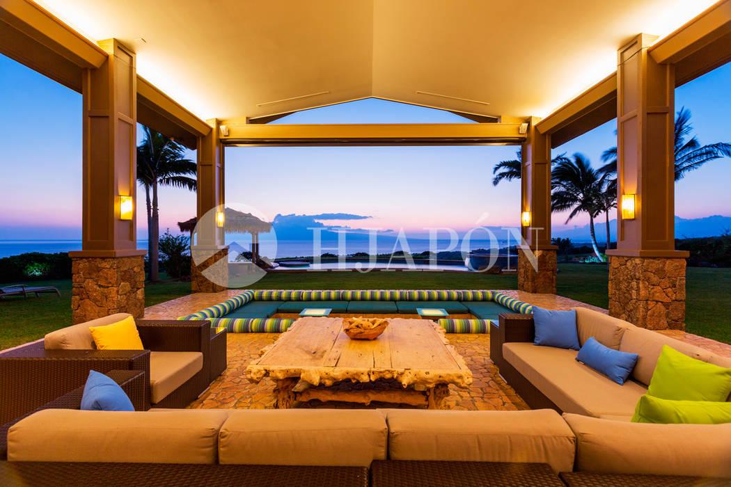 Balkon, Beranda & Teras Gaya Asia Oleh Hjapón - Inmobiliaria de lujo en Barcelona Asia