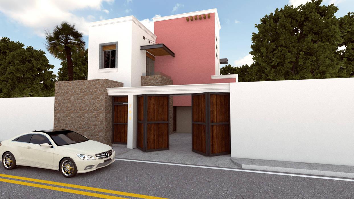 Renders Casa CE: Casas de estilo  por DISARQ ARQUITECTOS.,