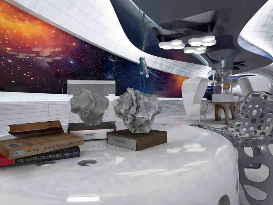 Aparatos electrónicos  de estilo  por Yurov Interiors