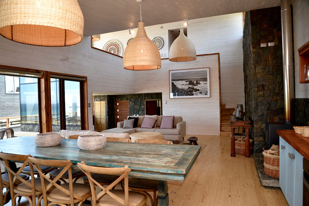 Vivienda Maria Salah: Livings de estilo  por Kimche Arquitectos , Moderno Madera Acabado en madera